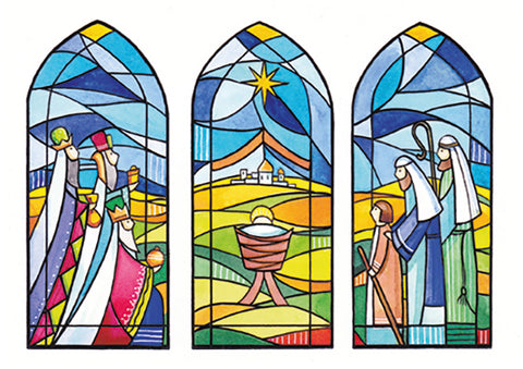 Stained Glass Window  - pack of 10