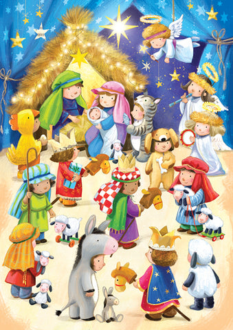 The Nativity - pack of 10