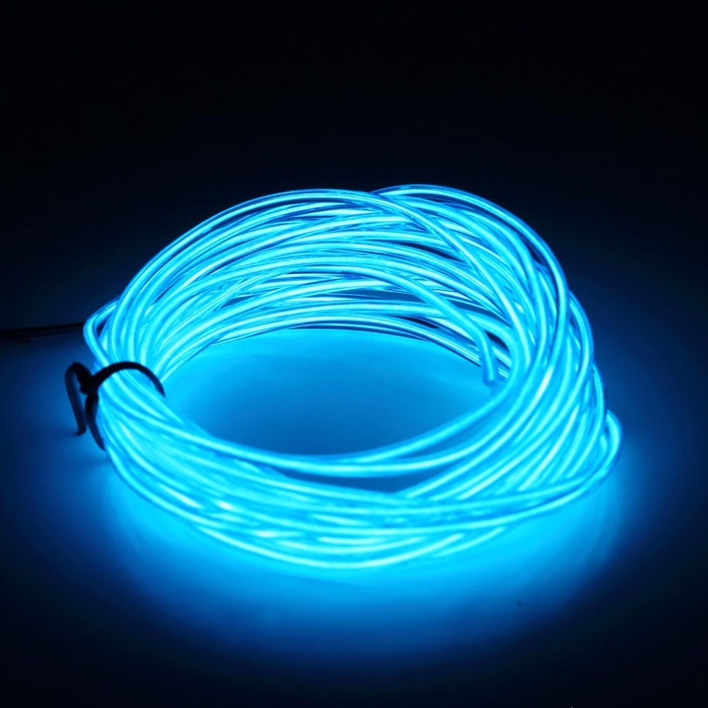 3M Flexible EL Wire Tube Rope Battery Powered Flexible Neon Light Car Party Wedding Decor With Controller LED Light DropShipping