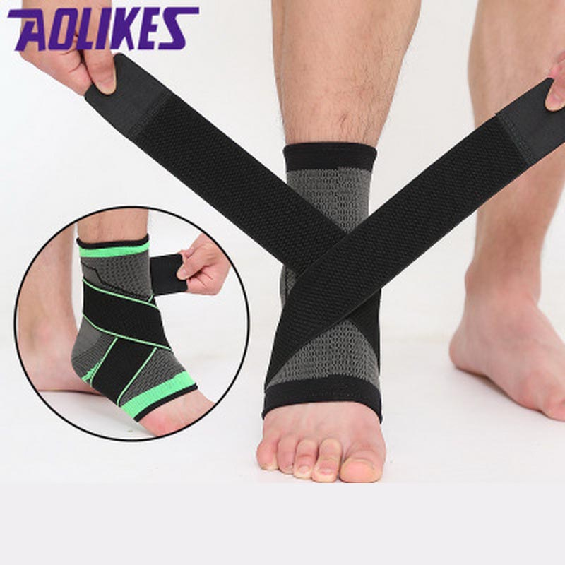 1Pcs Elastic Bandage Support Ankle Protector For Sport Gym Ankle Brace With Strap Belt achilles tendon retainer Foot Guard
