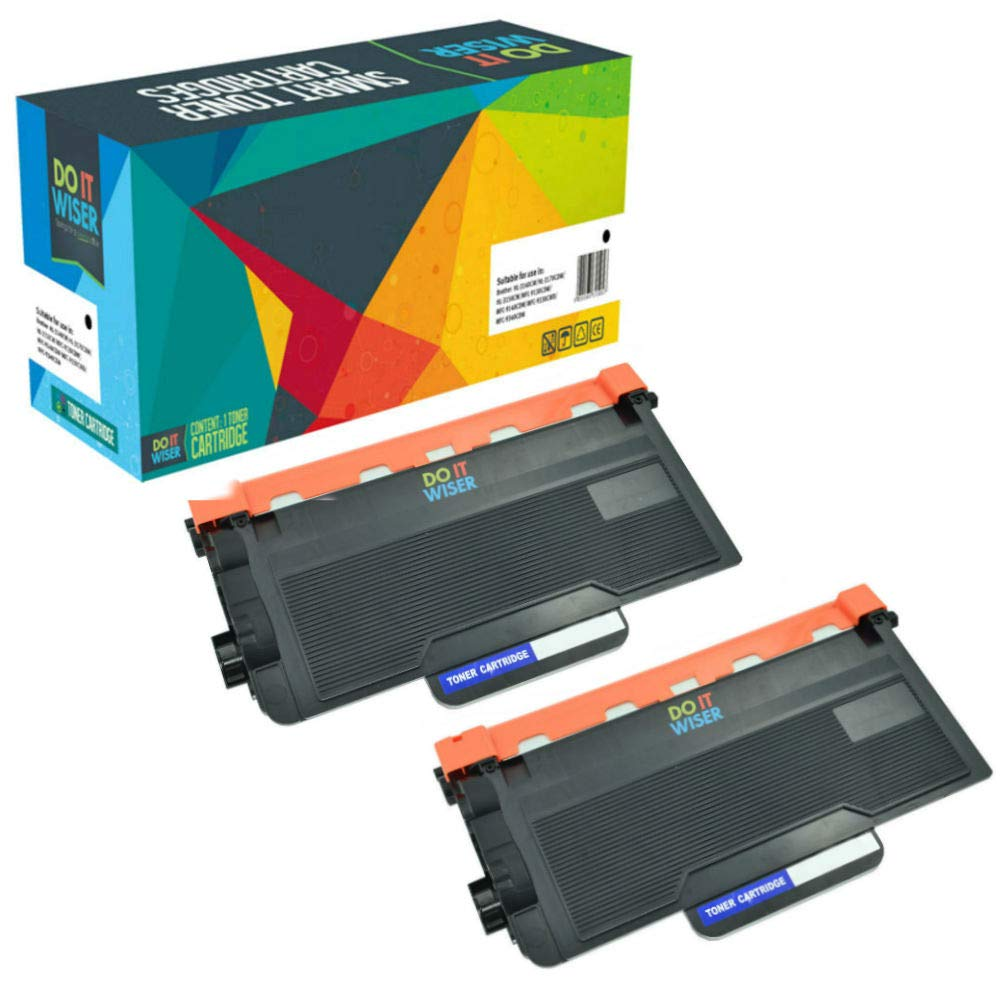 Compatibles Brother MFC-L6800dw Cartouches de Toner Noir 2 Pack par Do it Wiser