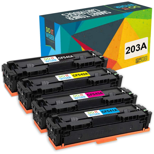 Compatibles HP 203A Cartouches de Toner 4 Pack par Do it Wiser