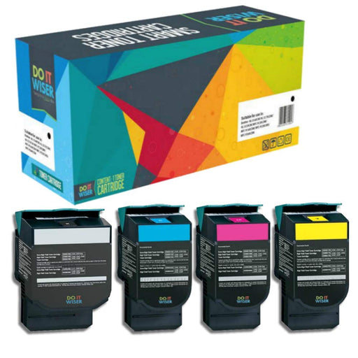 Compatibles Lexmark X543DN Cartouches de Toner 4 Pack par Do it Wiser
