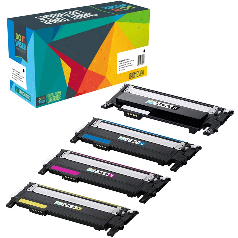 Compatibles Samsung Xpress SL-C467W Cartouches de Toner 4 Pack par Do it Wiser