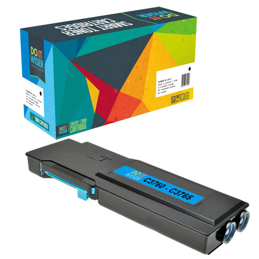 Compatible Dell C3765 Cartouche de Toner Cyan à Extra Haut Rendement par Do it Wiser