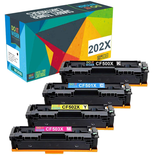 Compatibles HP Color LaserJet Pro M254nw Cartouches de Toner 4 Pack à Haut Rendement par Do it Wiser