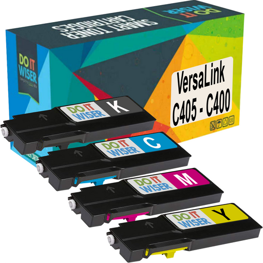 Remanufacturée Xerox VersaLink C405dn Cartouches de Toner 4 Pack à Extra Haut Rendement par Do it Wiser