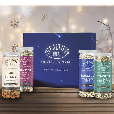 Festive Gift Box - Pack of 4 Healthy Snacks