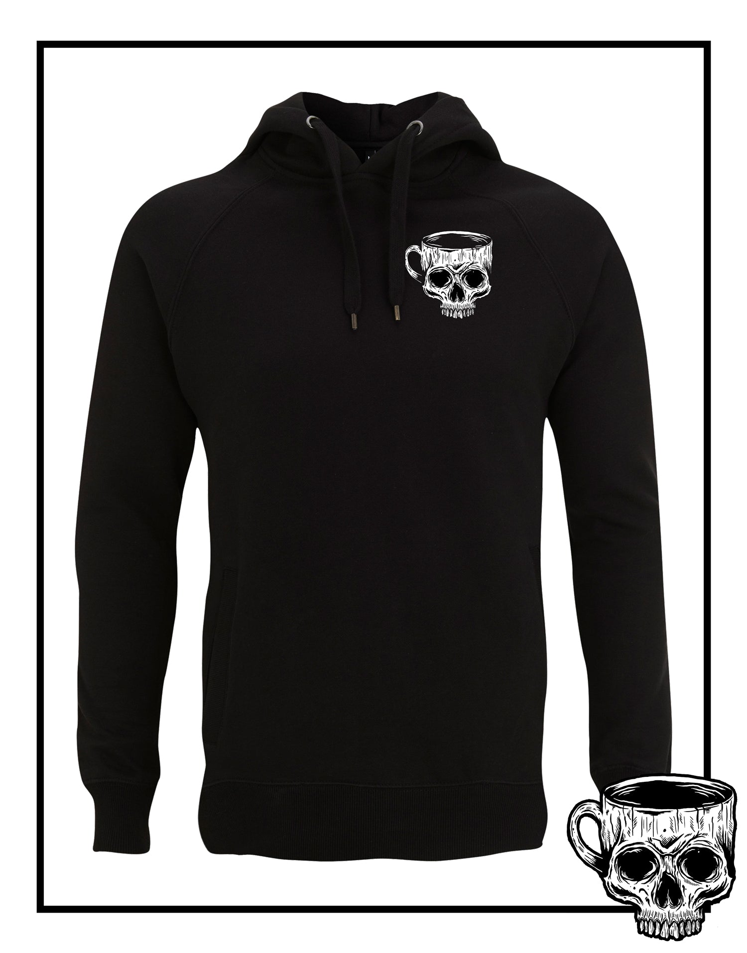 Mug Of Death Hoodie - Burnt Coffee Clothing