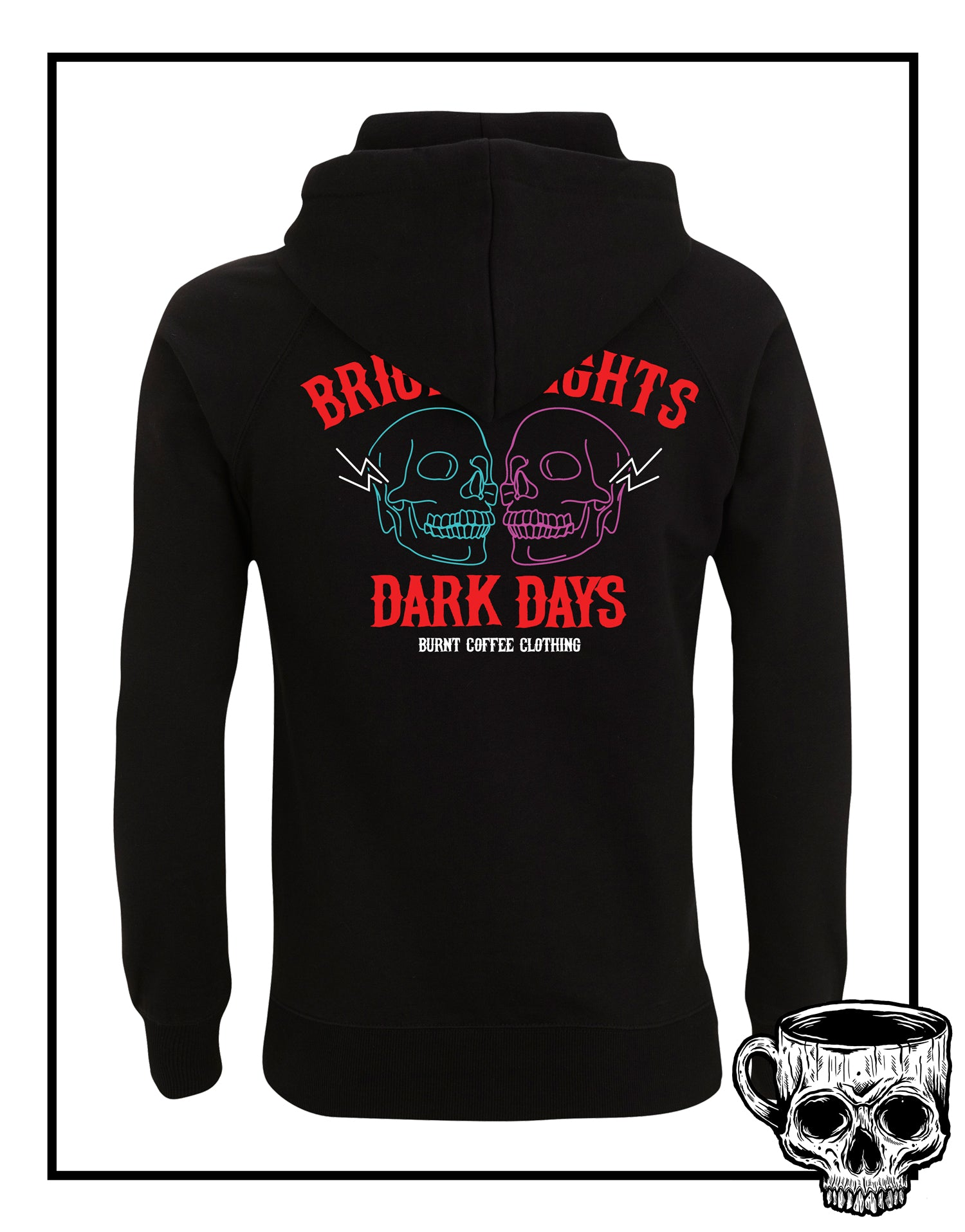 Bright Nights Hoodie - Burnt Coffee Clothing