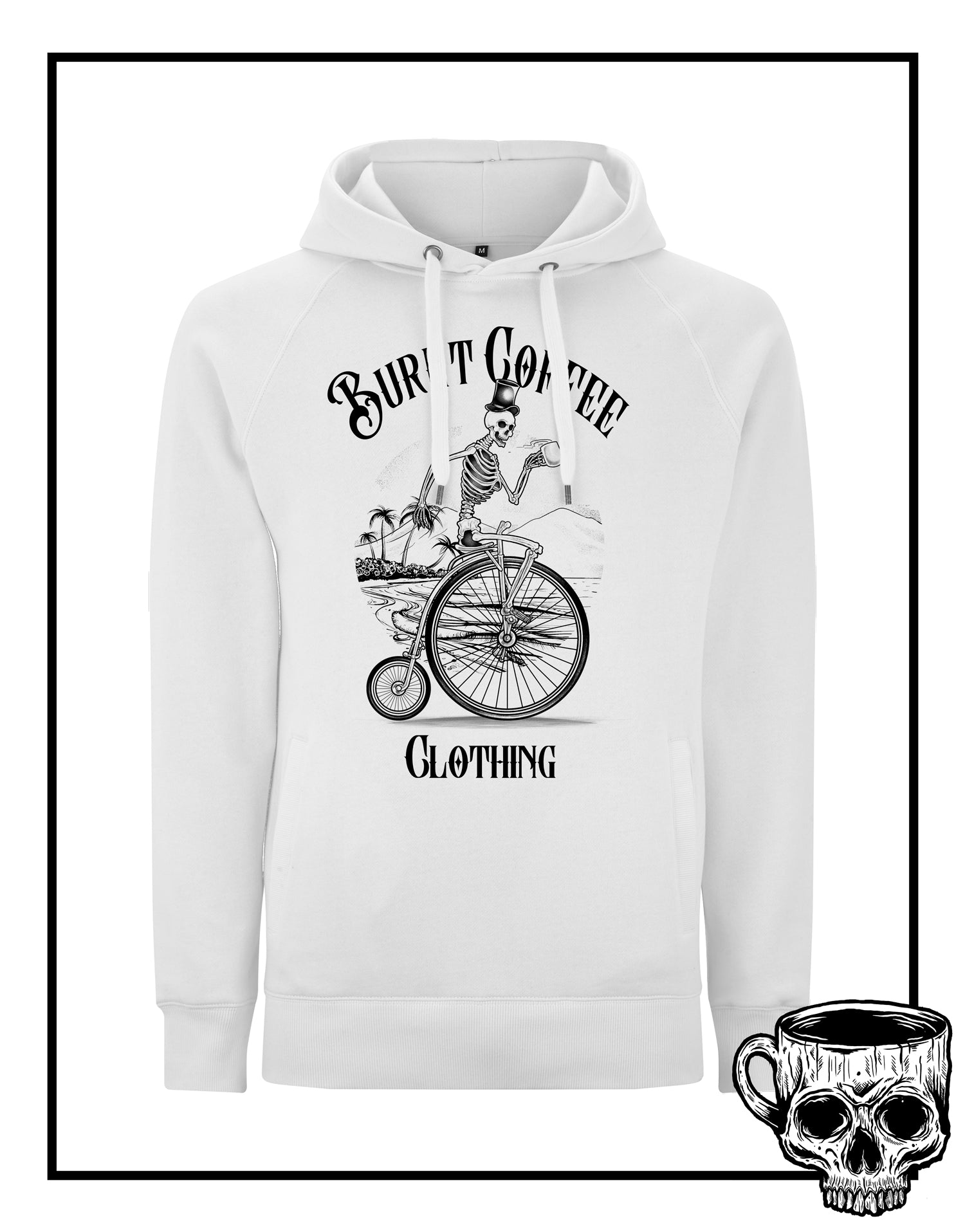 Penny Farthing Hoodie - Burnt Coffee Clothing