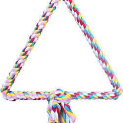 Happy Beaks Triangle Cotton Rope Swing