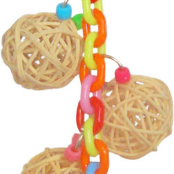 Happy Beaks 4-vine Balls On Chain With Bell