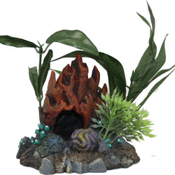 Exotic Environments Fire Coral Cave W/plants