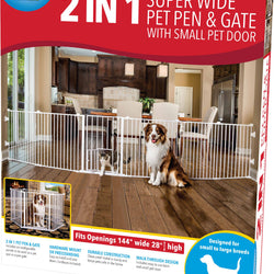 2 In 1 Super Wide Pen & Gate W/door Brackets