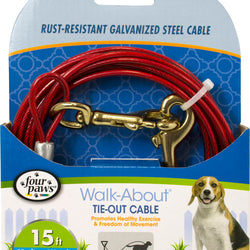 Four Paws Dog Tie Out Cable- Medium Weight