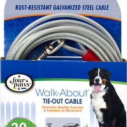 Four Paws Dog Tie Out Cable-super Weight