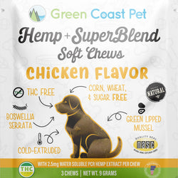 Trial-size Hemp + Superblend Chicken Soft Chew
