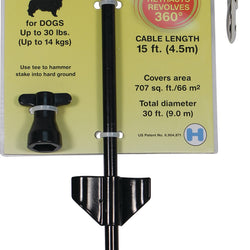 Reflective Retractable Cable Tie Out With Stake