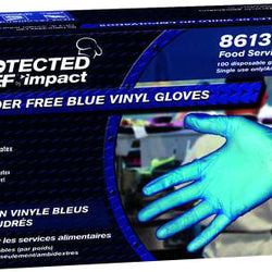 Stretch Vinyl Blue Powder Free Glove