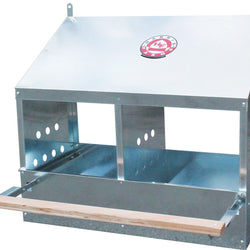 Galvanized 2-hole Poultry Nesting Box