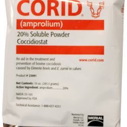 Corid 20% Soluble Powder For Calves