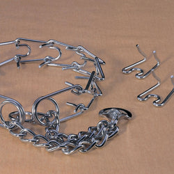 Chain Prong Training Collar Chrome Hamilton Strlng