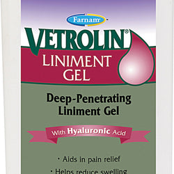 Vetrolin Liniment Gel With Ha For Equine