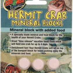 Hermit Crab Mineral Blocks With Added Food
