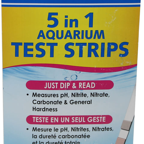 5 In 1 Aquarium Test Strips