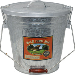 Rustic Farmhouse Seed Storage Bucket W/scoop