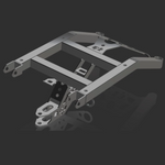 HD Luggage Rack with 3 Separate Clevis Mounts