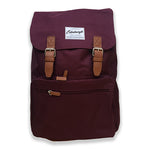Retro Inspired Backpack in Burgundy