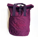 Roll-Top Backpack in Burgundy