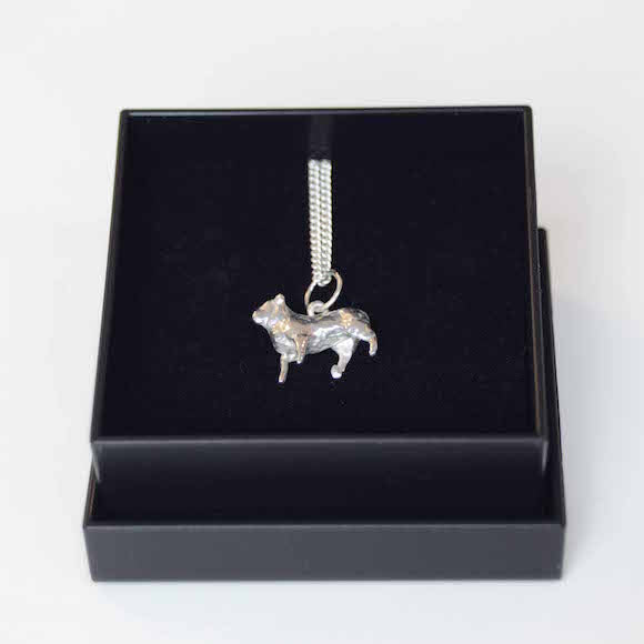 Sterling Silver Necklace featuring a silver Dolly the Sheep Charm