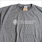 Lightweight Stacked Crest Sweatshirt in Grey
