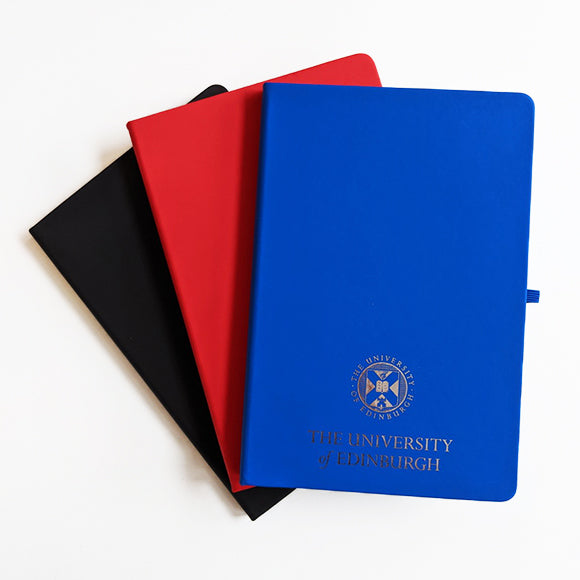 A5 Foil Crest Notebook in Blue