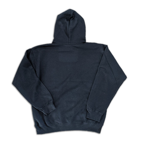 Basic Embroidered Pullover Hoodie in Navy