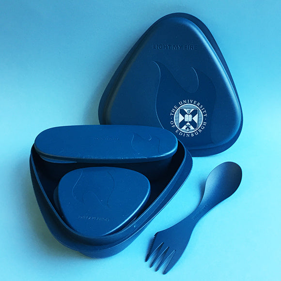 Bioplastic Lunch Kit in Hazy Blue