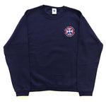 Classic Embroidered Crest Sweatshirt in Navy