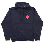 Classic Embroidered Pullover Hoodie in Navy