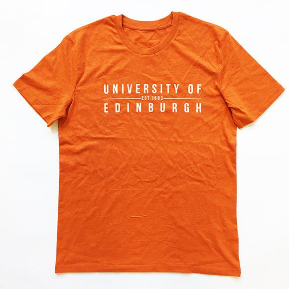 Established Print T-Shirt in Burnt Orange
