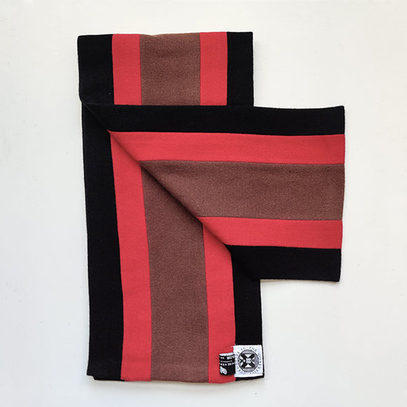Black, red and brown graduation scarf