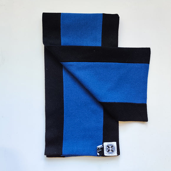 Black and blue graduation scarf