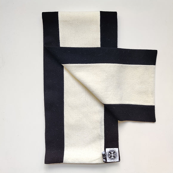 black and white graduation scarf