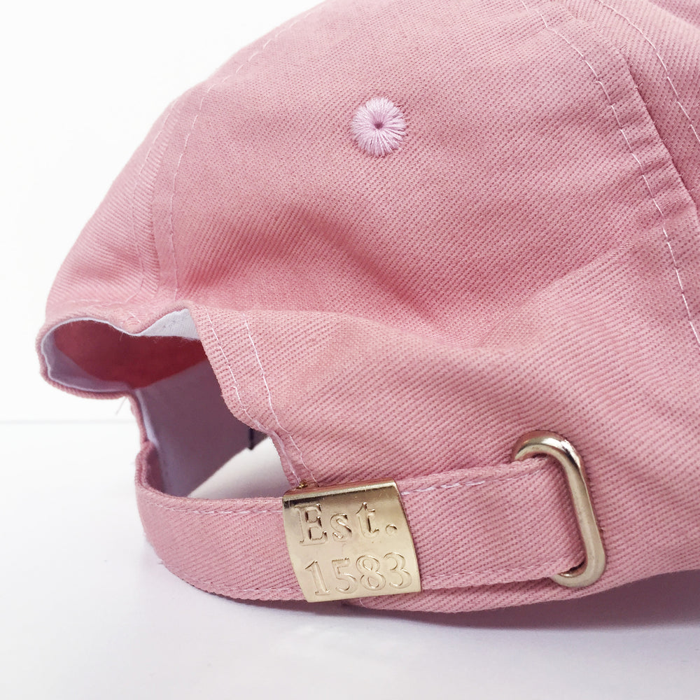 Box Design Baseball Cap in Dusty Pink