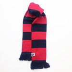 Striped Scarf in Red/Navy