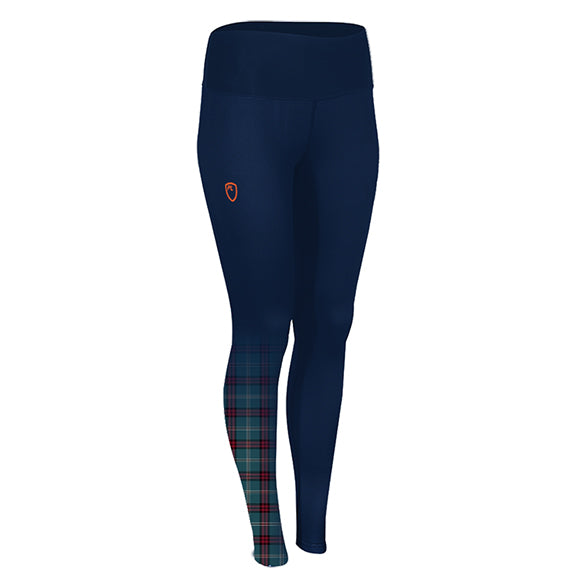 Playerlayer Leggings with Tartan Design Side View