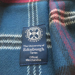 Tartan Lambswool Scarf Tag Close Up