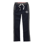 Retro Style Sweatpants in Navy with white drawcords, white University crest and grey contrast detailing.